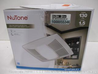 NuTone 130CFM Ventilation Fan With Light and Night Light