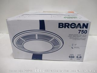 Broan 750 Ventilation Fan with Light and Night Light