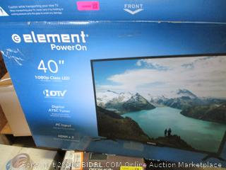 "Element 40"" HDTV Powers On New"