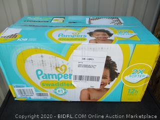 Pampers Swaddlers- size 6