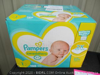 Pampers Swaddlers- size 1