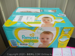 Pampers Swaddlers- size 4