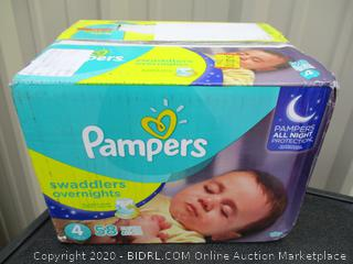 Pampers Swaddlers Overnights- size 4