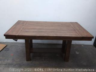 SIGNATURE DESIGN BY ASHLEY - Kavarna Rectangular Wood-Top Dining Table - Extension table 18 inch (Retail $1,400)