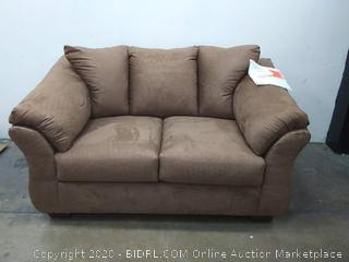 SIGNATURE DESIGN BY ASHLEY - Audrey loveseat DXL Brown microfiber color (Retail $1,000)
