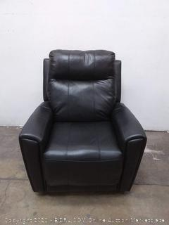 ASSTD NATIONAL BRAND - PRIEST REClINER - Black Leather (Retail $2,295)