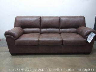 SIGNATURE DESIGN BY ASHLEY - Blake DLX - Brown Leather Sofa (Retail $1,200)