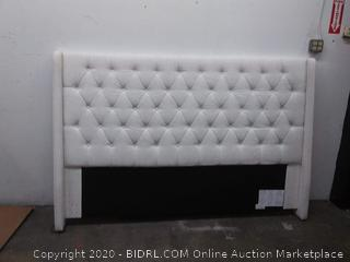 Hilldale House - King? - White Fabric Headboard