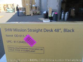 Mission Straight Desk (Please Preview)