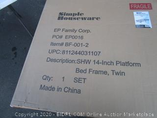 "14"" Platform Bed Frame Size Twin"