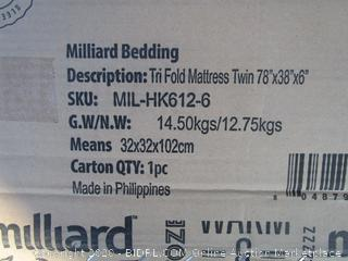 TriFold Mattress Size Twin (Please Preview)