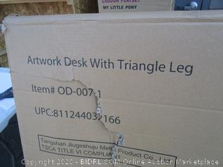 Artwork Desk w/ Triangle Leg (Box Damage) (Please Preview)