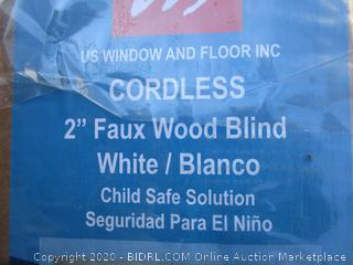 "Cordless 2"" Faux Wood Blind (Please Preview)"