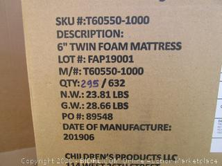 "6"" Foam Mattress Size Twin"