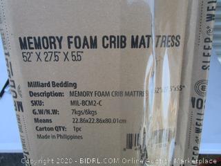 Memory Foam Crib Mattress (Please Preview)