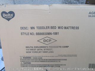Toddler Bed w/o Mattress