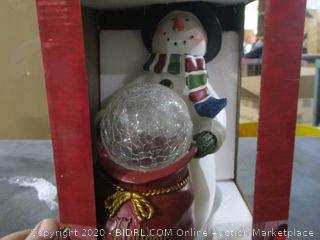 Christmas Statue with LED Lights and timer