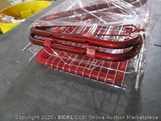 Kitchen Storage Red 2 Tier