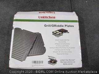 USKitchen Grill/Griddle Plates