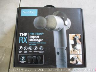 the RX Pro Therapy Impact Massager