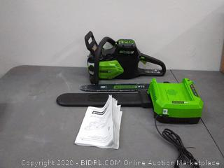 Greenworks Pro 80v 16 in brushless chainsaw