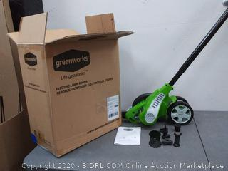 Greenworks electric lawn edger plus extra blades