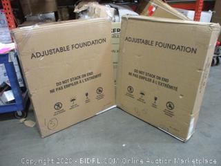 Adjustable Foundation   split Cal King complete set
