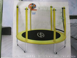 Langxun- 5' Outdoor & Indoor Trampoline w/ Basketball Hoop