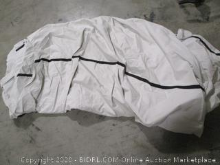 Budge- 600 Denier -Hard/ T Top Boat Cover - Gray- 20' to 22' Long