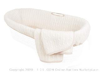 adpoles Deluxe Cable Knit Moses Basket  (Bedding Only)