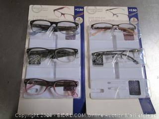 DesignOptics Foster Grant Reading Glasses +2.50