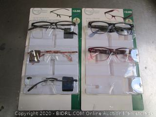 DesignOptics Foster Grant Reading Glasses +2.00