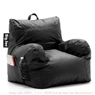 Big Joe Dorm Bean Bag Chair, Stretch Limo Black (Factory Sealded)