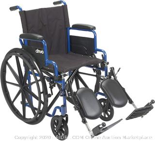 Drive Medical Blue Streak Wheelchair with Flip Back Desk Arms, Elevating Leg Rests, 18 Inch Seat (online $121)