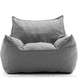 Big Joe Imperial Lounge Gray Bean Bag Chair (online $129)