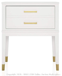 CosmoLiving Westerleigh End Table, White