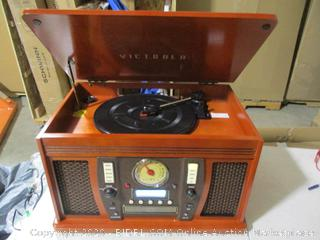 Victrola - Aviator 8-in-1 Turn Table Music Center