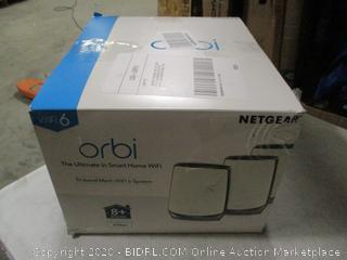 NETGEAR Orbi Whole Home Tri-Band Mesh WiFi 6 System (RBK853) – Router with 2 Satellite Extenders | Coverage up to 7,500 sq. ft. and 60+ Devices | 11AX Mesh AX6000 WiFi (Up to 6Gbps) $999 Retail