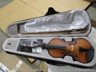 Cecilio - Mendini Solid Wood Violin with Hard Case, Bow, Rosin and Extra Strings (4/4, Antique Finish)