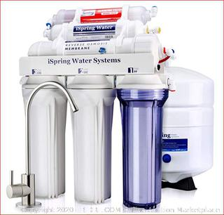 iSpring RCC7AK 6-Stage Superb Taste High Capacity Under Sink Reverse Osmosis Drinking Water Filter System with Alkaline Remineralization ($199 Retail)
