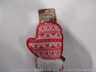 Holiday Mitten Chew Toy For Dogs