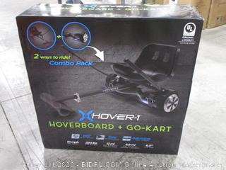"""Hover-1 Kart and Ultra Electric Hoverboard w/ 6.5"""" Wheels and LED Lights Combo - Black"""