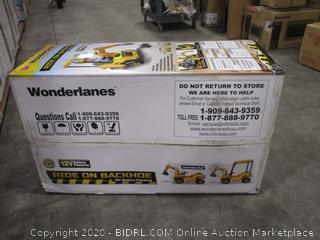 Wonderlanes 12V Backhoe Ride On, Yellow