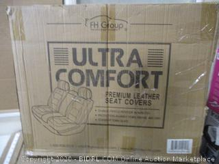 FH Group PU205013 Solid Black Bench PU205 Solid Black 013 Ultra Comfort Leatherette Rear Seat Cushions
