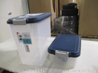 Iris- Airtight 3 Piece Pet Food Storage Combo