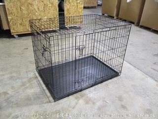 Amazonbasics- Double Door Folding Metal Dog Crate