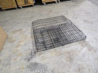 Amazonbasics- Single Door Folding Metal Dog Crate (warped)