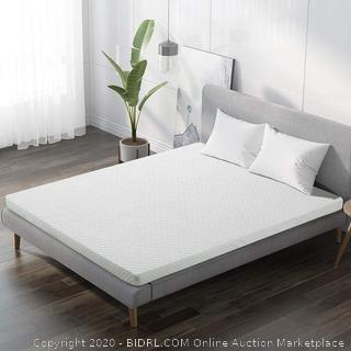 INGALIK  3-Inch Memory Foam Mattress Topper King Size Pressure-Relieving Bed Topper (with Bamboo Fiber Mattress Cover, Zipper Opening and Closing, Removable and Washable(Retail $190)