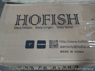 Hofish queen size 3 inch mattress topper