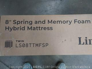 Linenspa Twin 8 Inch Memory Foam and Innerspring Hybrid Mattress - Medium-Firm Feel